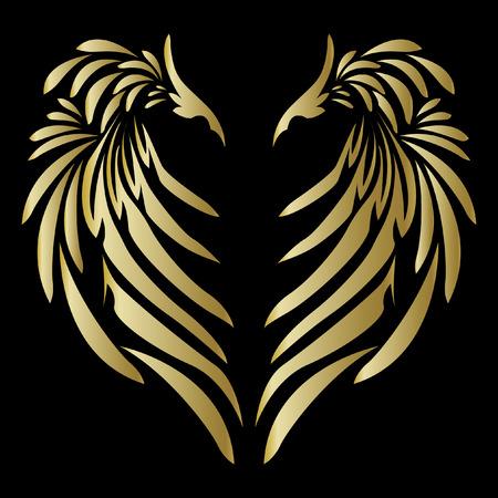 Tribale engel vleugel