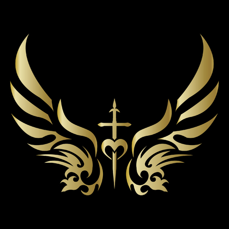 Aile ange tribale Banque d'images - 81918795