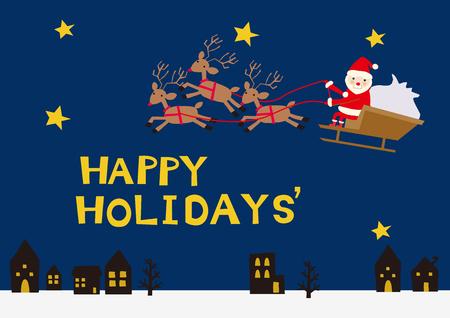 Season clip art. Santa Claus.