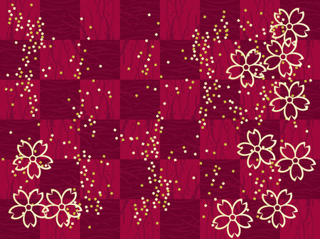Gorgeous Japanese pattern. Grid pattern, vector illustration.