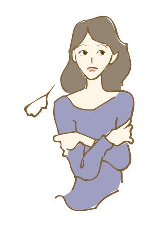 手描き。女性のイラスト。