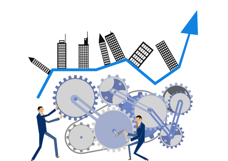 Gear and businessman clip art. Image of business. Business clip art.