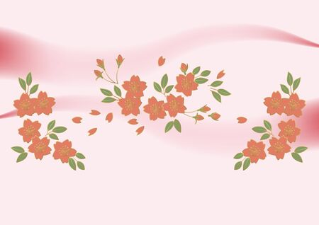 Cherry blossom background material. The background material of Japanese painting. Modern art of cherry blossoms. Cherry blossoms wallpaper material. Japanese background material. Japanese style background material. Background design for decoration. Image of spring. Spring material. Illustration