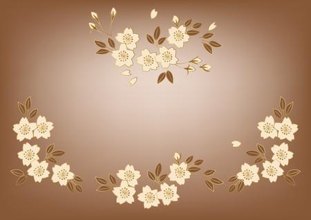 桜の壁紙素材  イラスト・ベクター素材