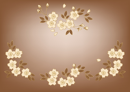 Cherry blossoms wallpaper material