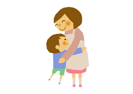 Illustration of mother and child. An image of mother and child. Parenting clip art. Nursery clip art. Illustration