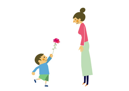 Happy Mothers Day. Image of maternity with children. Image of affection of mother and child. Mother's love and images of children. 免版税图像 - 94834757