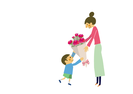 Happy Mothers Day. Image of maternity with children. Image of affection of mother and child. Mothers love and images of children.