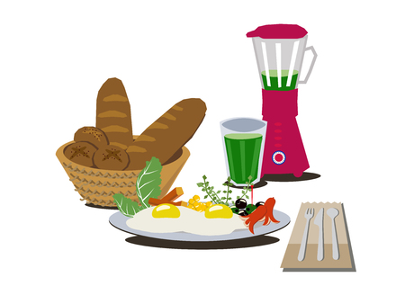 Sunny side up clip art. A delicious breakfast.Cooking clip art.