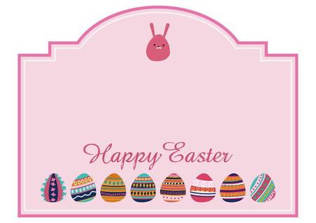 An image of Easter. Design material for Easter. message card. Illustration of the event. Easter egg design.