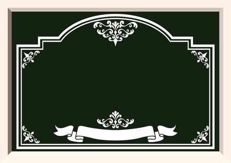 Collection of the frame design. The background material. Collection of wallpapers. Image of blackboard. Blackboard frame material. Welcome board frame. Frame design for signs. Illustration
