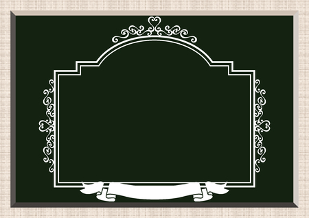 Collection of the frame design. The background material. Collection of wallpapers. Image of blackboard. Blackboard frame material. Welcome board frame. Frame design for signs. Ilustracja