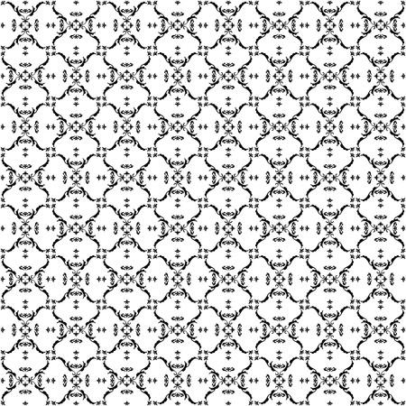Seamless pattern of arabesque. Elegant wallpaper. Monogram. Patterns arranged in a grid.