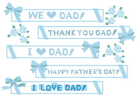 design for Fathers Day. Material for designers. Happy Fathers Day. Illustration
