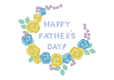 Frame for Fathers Day. Wreath. Decoration for Fathers Day. Design material. Illustration