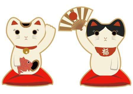 Beckoning cat.lucky cat. fortune cat. Japanese cat ornament. It brings great Fortunes.