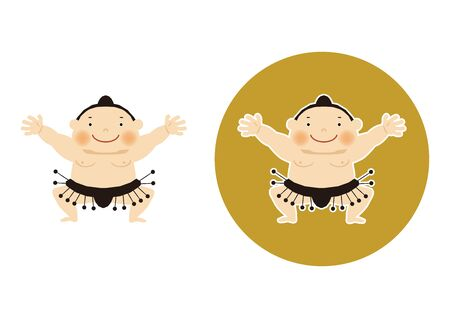 Sumo is traditional Japanese sport. An Illustration of the Sumo Wrestler. vector illustration of Sumo wrestler.. Character Design. A clip art of Sumo wrestler. Standard-Bild - 138970983