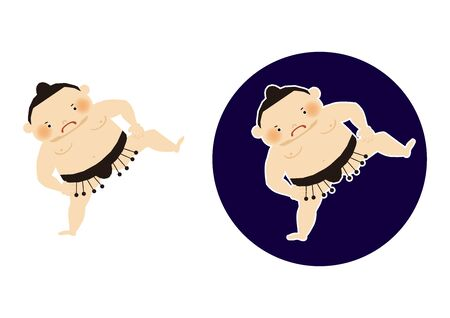 Sumo is traditional Japanese sport. An Illustration of the Sumo Wrestler. vector illustration of Sumo wrestler.. Character Design. A clip art of Sumo wrestler. Standard-Bild - 138970979