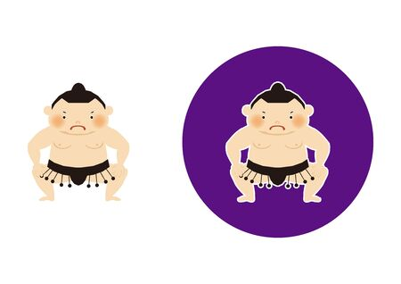 Sumo is traditional Japanese sport. An Illustration of the Sumo Wrestler. vector illustration of Sumo wrestler.. Character Design. A clip art of Sumo wrestler. Standard-Bild - 138970988