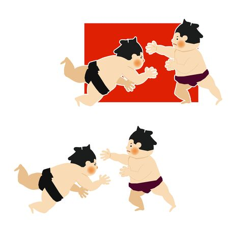 Sumo is traditional Japanese sport. An Illustration of the Sumo Wrestler. vector illustration of Sumo wrestler.. Character Design. A clip art of Sumo wrestler. Standard-Bild - 138970989