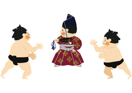 An illustration of the Sumo wrestler. vector illustration of Sumo wrestler.. Character Design. A clip art of Sumo wrestler. Sumo is traditional Japanese national sport.