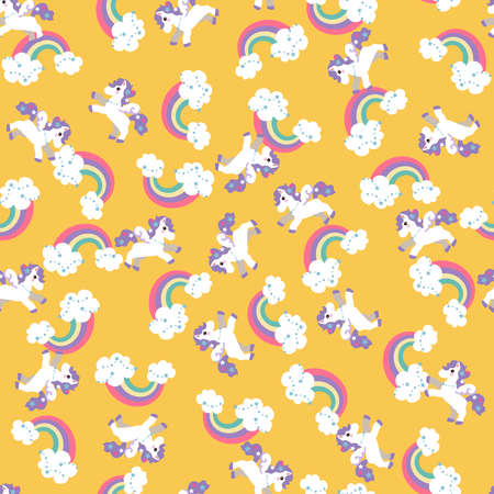 Pegasus pattern. Seamless pattern. Material for wallpaper and wrapping paper. Textile design.