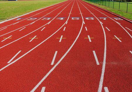 Track at state university. 스톡 콘텐츠