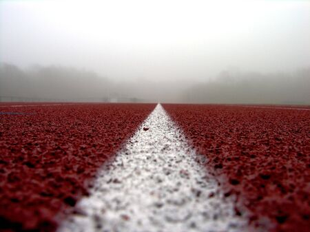 White line on red  track #2