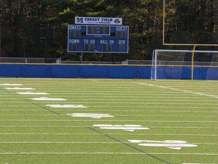 Empty Football Field at state university.