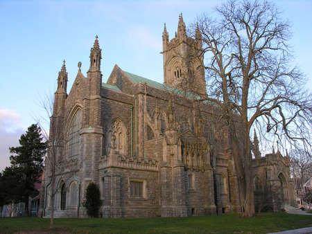 Church in fall