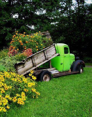 Truckload di fiori Archivio Fotografico - 295737