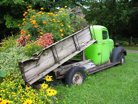 Truckload of flowers