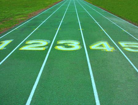 Atletismo pista carriles.  Foto de archivo - 310956