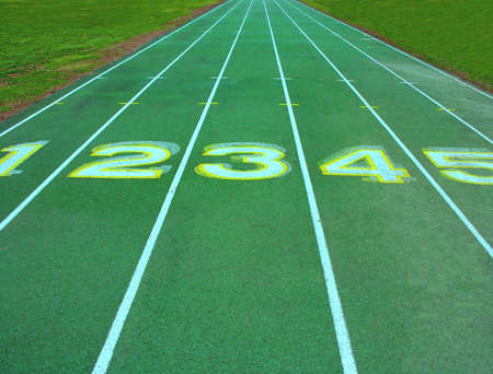 Running track lanes. photo