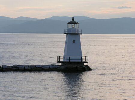 Lighthouse on Lake Champlain Stock Photo - 318727