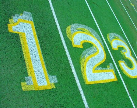 Numbers on green. photo