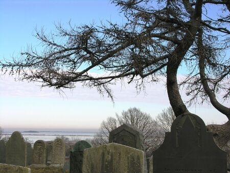 plymouth: Ocean view from Burial Hill, Plymouth, Ma Stock Photo