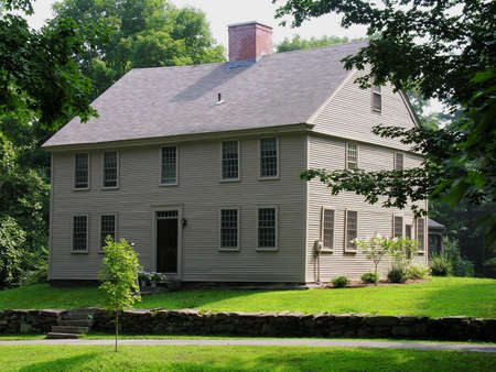 Beautiful Colonial home in the summer.