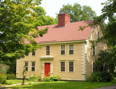 Restored colonial home. photo