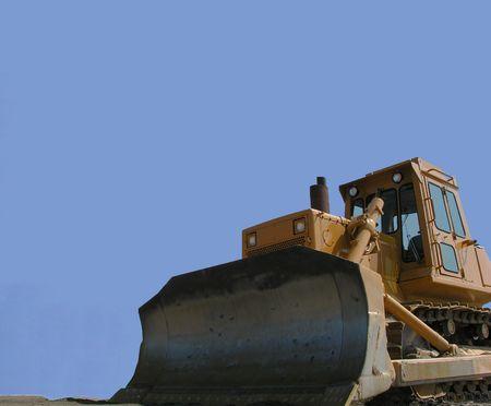 Blade of bulldozer.