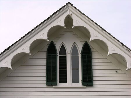 Victorian roof line and window.