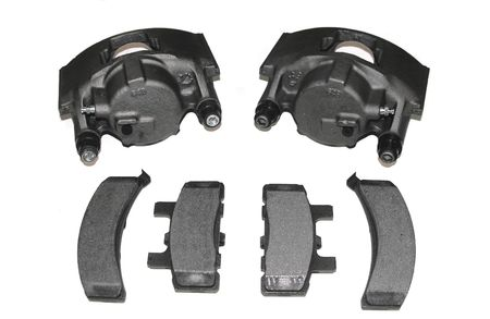 rebuilt: Rebuilt Automotive brake calipers and pads.