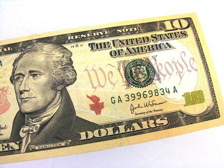 Ten dollar bill. photo