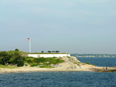 revolutionary war: A historic Fort used in the, Revolutionary war and Civil War. Stock Photo