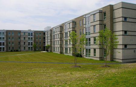 New University housing on campus.