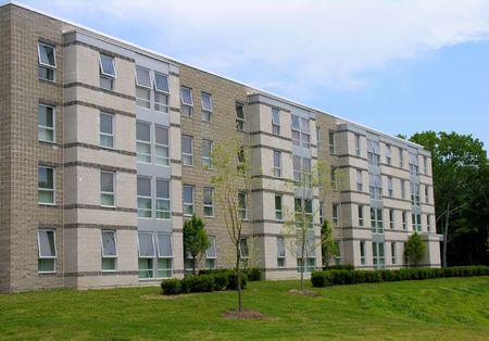 residents: University housing on campus. Stock Photo