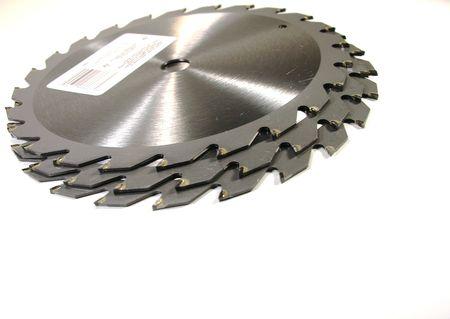 Three carbide Saw blades 스톡 콘텐츠