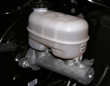 motor vehicle: Brake Master Cylinder and Reservoir on a motor vehicle.