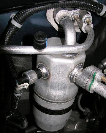 auto repair: Automotive Air conditioning condenser Stock Photo