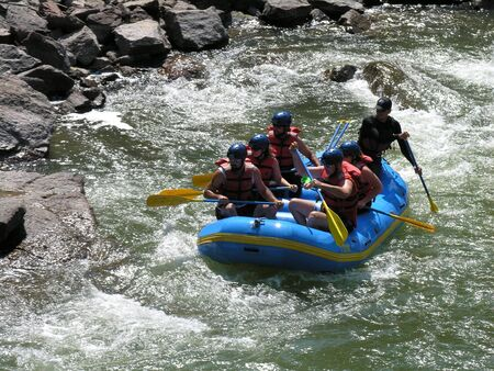 White water rafting in Colorado. 스톡 콘텐츠